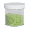 3 oz. Clear Polystyrene Straight Sided Jar with White 58/400 Cap