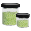 4 oz. Clear Polystyrene Straight Sided Jar with Black 53/400 Cap with F217 Liner