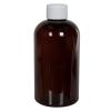 12 oz. Light Amber PET Squat Boston Round Bottle with 24/410 Plain Cap