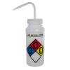 500mL (16 oz.) Scienceware® Saline Wide Mouth Safety-Labeled Wash Bottles with Natural 53mm Cap