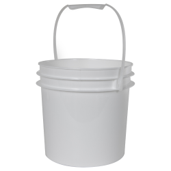 White 1 Gallon Bucket (Lid Sold Separately)