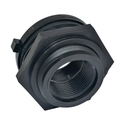 "1/2"" Polypropylene Loose Tank Fitting with Buna-N Gasket"