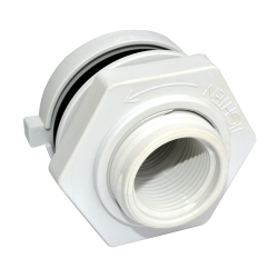 "1/2"" Nylon Loose Tank Fitting with Buna-N Gasket"