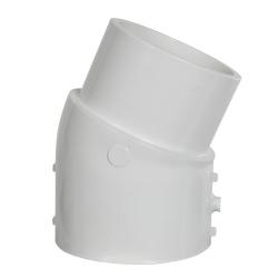 """3"""" Schedule 40 White PVC 22-1/2° Slip x Spigot Elbow"""