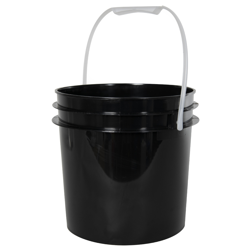 Black 1 Gallon Bucket (Lid Sold Separately)