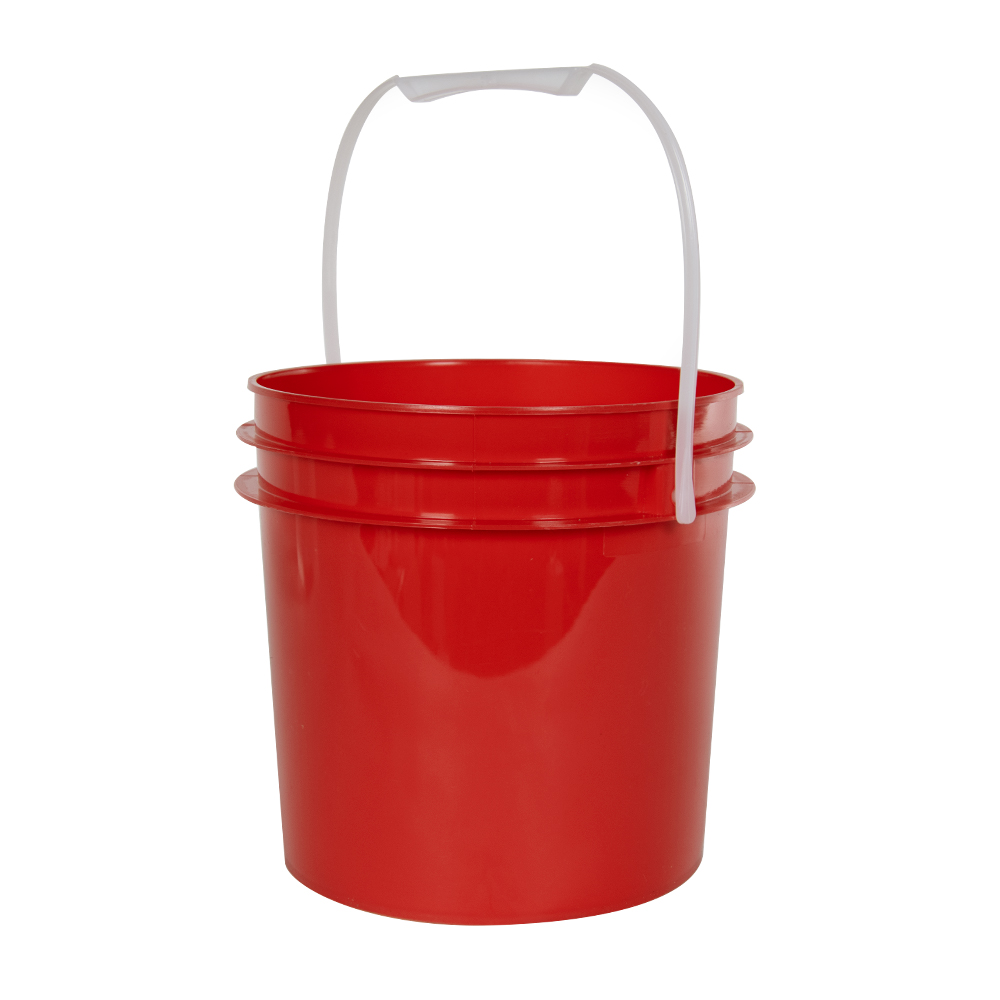 Red 1 Gallon Bucket (Lid Sold Separately)