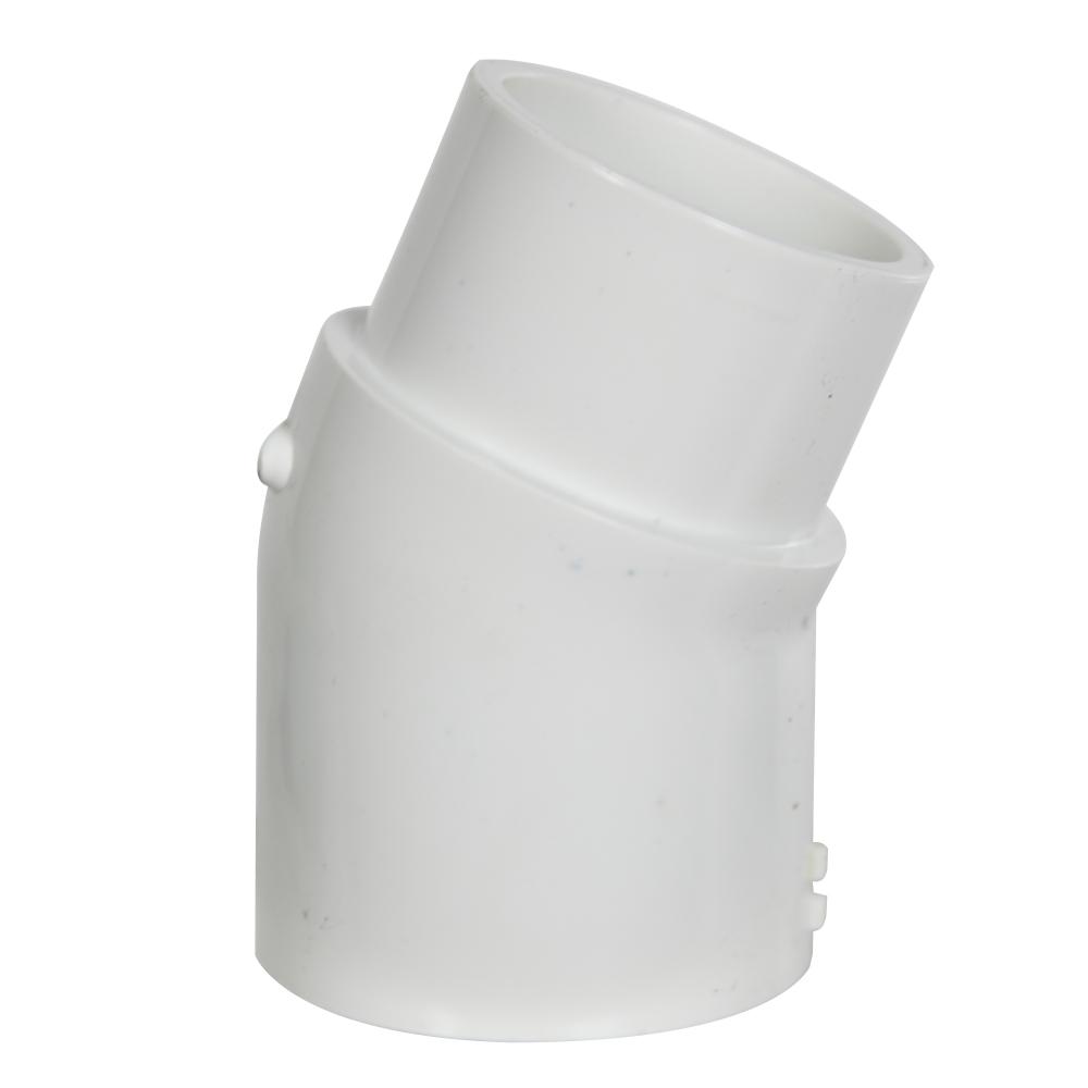 """2"""" Schedule 40 White PVC 22-1/2° Slip x Spigot Elbow"""
