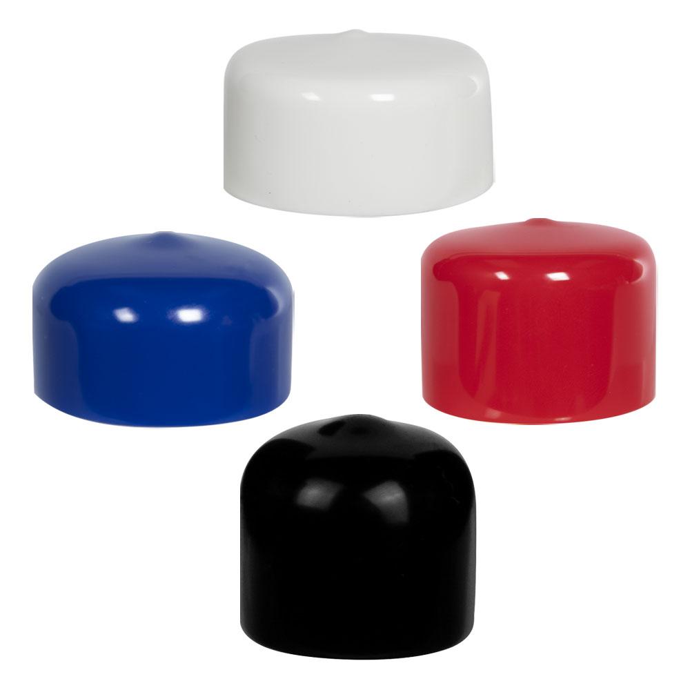 "Vinyl Caps or Ends 100 White Push-On Pliable Vinyl Caps Fits 1//8/"" Rod"