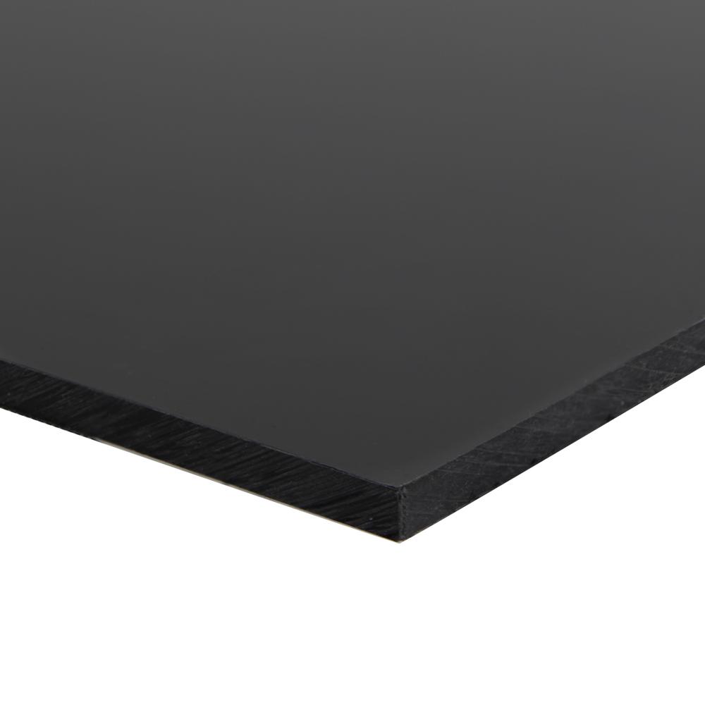 "1/8"" x 12"" x 24"" Black HDPE Sheet"