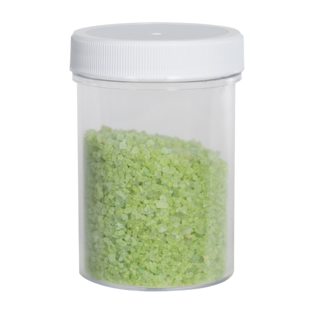 4 oz. Clear Polystyrene Straight Sided Jar with White 53/400 Cap