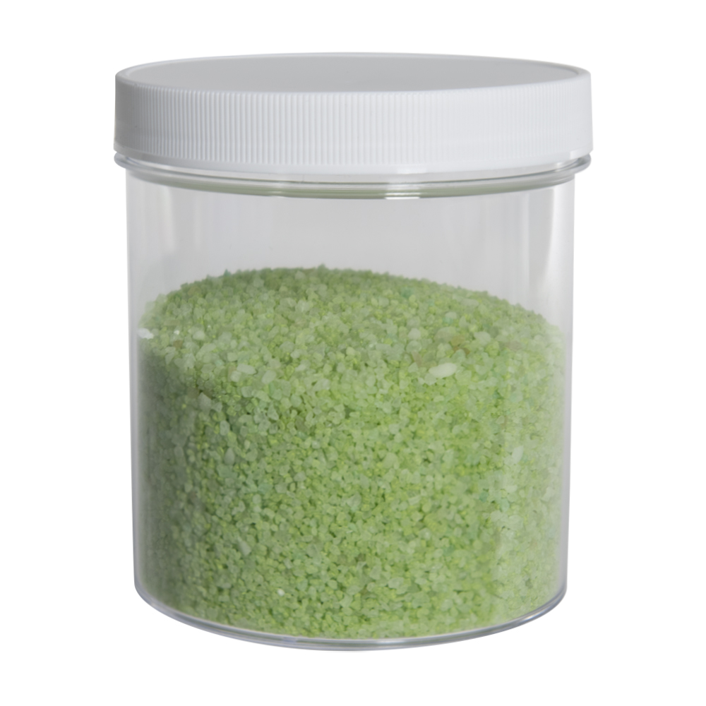 40 oz. Clear Polystyrene Straight Sided Jar with White 120/400 Cap