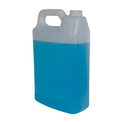 2.5 Gallon Natural F-Style Jug with 63mm Rieke Neck (Cap Sold Separately)