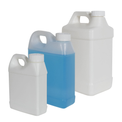 Fluorinated F-Style Jugs with CRC Caps