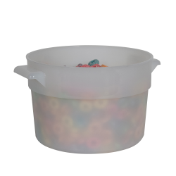 2 Quart White Polyethylene Bain Marie with Handles (Lid Sold Separately)