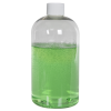 16 oz. Clear PET Squat Boston Round Bottle with 24/410 Plain Cap
