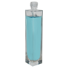 50mL Clear Tall Rectangular Glass Bottle with 18/415 Neck (Cap Sold Separately)