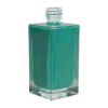 50mL Clear Square Glass Bottle with 18/415 Neck - Case of 108 (Cap Sold Separately)