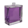 100mL Clear Squat Rectangle  Glass Perfume Bottle with 15mm Neck - Case of 84 (Cap Sold Separately)