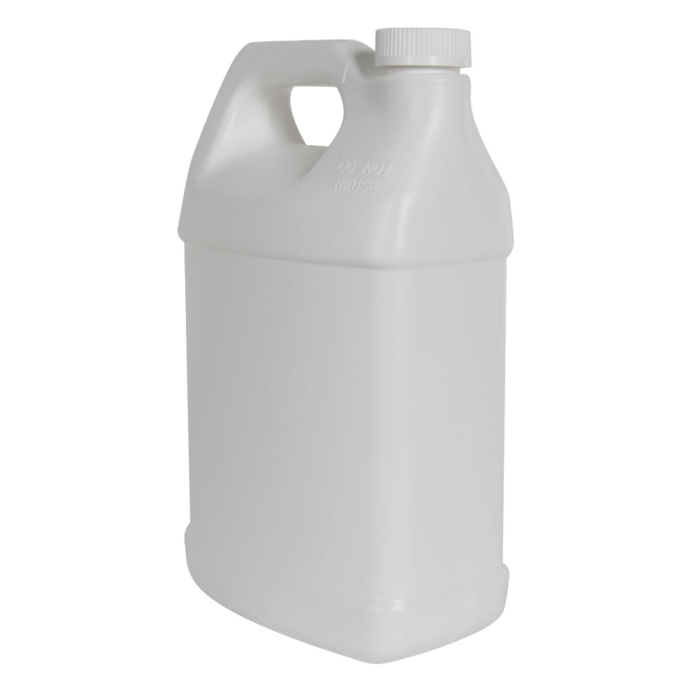 128 oz. White Fluorinated F-Style Jug with 38/400 CRC Cap