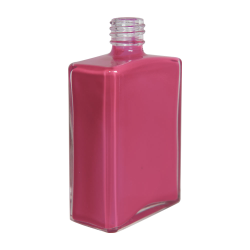 4 oz. Clear Rectangular Glass Bottle with 20/415 Neck - Case of 72 (Cap Sold Separately)