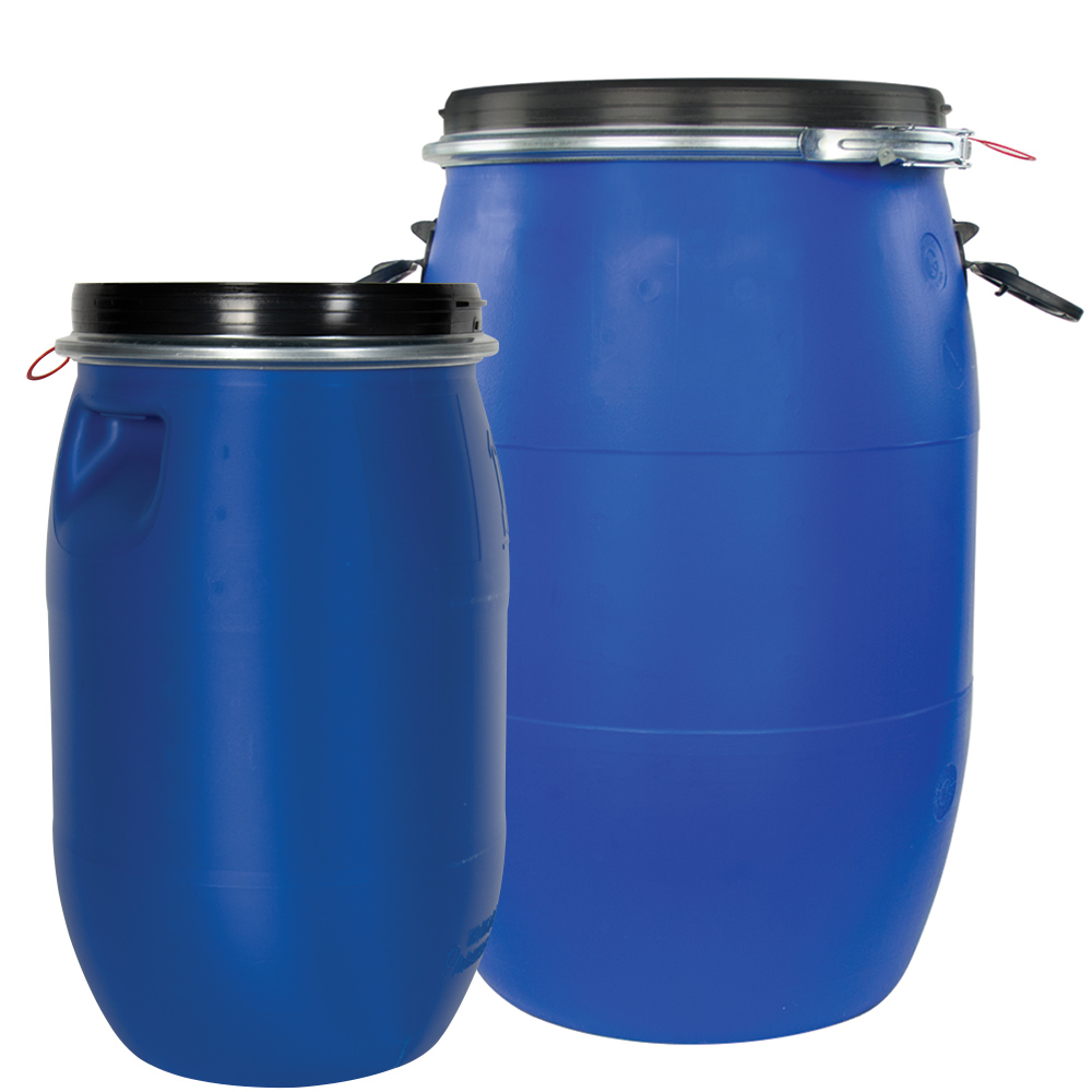 UN Rated Open Head Drums with Lever Lock Lids