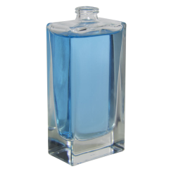 50mL Clear Tall Rectangle Glass Perfume Bottle with 15mm Neck - Case of 64 (Cap Sold Separately)