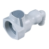 """1/2"""" In-Line Hose Barb UDC Polypropylene Valved Elbow Body with Silicone O-ring"""
