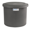 "10-12 Gallon Gray Polyethylene Shallow Tank with Cover - 14"" High"