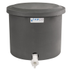 "10-12 Gallon Gray Polyethylene Shallow Tank with Cover & Spigot - 14"" High"