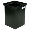 """10 Gallon Black Polyethylene Tank - 12"""" L x 12"""" W x 18"""" H"""