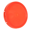 Orange Solid Tear Tab Bucket Lid