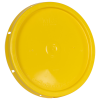 Yellow Solid Tear Tab Bucket Lid