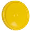 Yellow Solid Tear Tab Bucket Lid