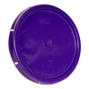 Purple Solid Tear Tab Bucket Lid