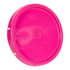 Pink Solid Tear Tab Bucket Lid