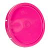 Pink Solid Tear Tab Bucket Lid