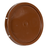 Brown Solid Tear Tab Bucket Lid