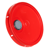 Red Pour Spout Bucket Lid