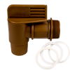 "2"" Gold Drum Faucet with 2-3/16"" OD Outlet"