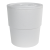 Leaktite® 5 Gallon Bucket Styrofoam Companion Coolers with Lids - Pack of 12