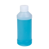 8 oz. Natural HDPE Modern Round Bottle with 28/410 Plain Cap