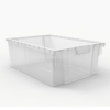 Large Clear Replacement Bin for Luxor Mobile Bin Storage Unit