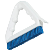 "9"" White Spectrum® Tile & Grout Brush with Blue Nylon Bristles"
