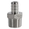 "1/2"" PEX x 3/4"" MNPT Stainless Steel Male Adapter"