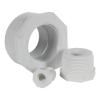 "3/8"" MNPT x  1/4"" FNPT Schedule 40 White PVC Threaded Reducing Bushing"