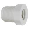 "1/2"" MNPT x 1/4"" FNPT Schedule 40 White PVC Threaded Reducing Bushing"
