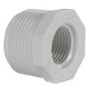 "1"" MNPT x 1/2"" FNPT Schedule 40 White PVC Threaded Reducing Bushing"