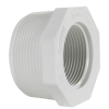 "2"" MNPT x 1-1/4"" FNPT Schedule 40 White PVC Threaded Reducing Bushing"