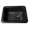 "Sink with Bowl Size 14""L x 10""W x 6""D Top Size 16 3/8""L x 12 3/8""W"