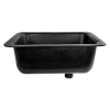 "Sink with Bowl Size 25""L x 15""W x 10""D Top Size 27 1/2""L x 17 1/2""W"